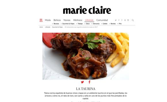 Publicación Marie Claire